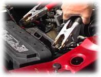 Koppla batteriladdare till bilbatteri